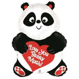 Панда с сердечком, 81см