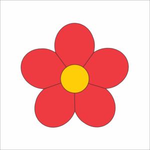 Цветок 5 лепестков